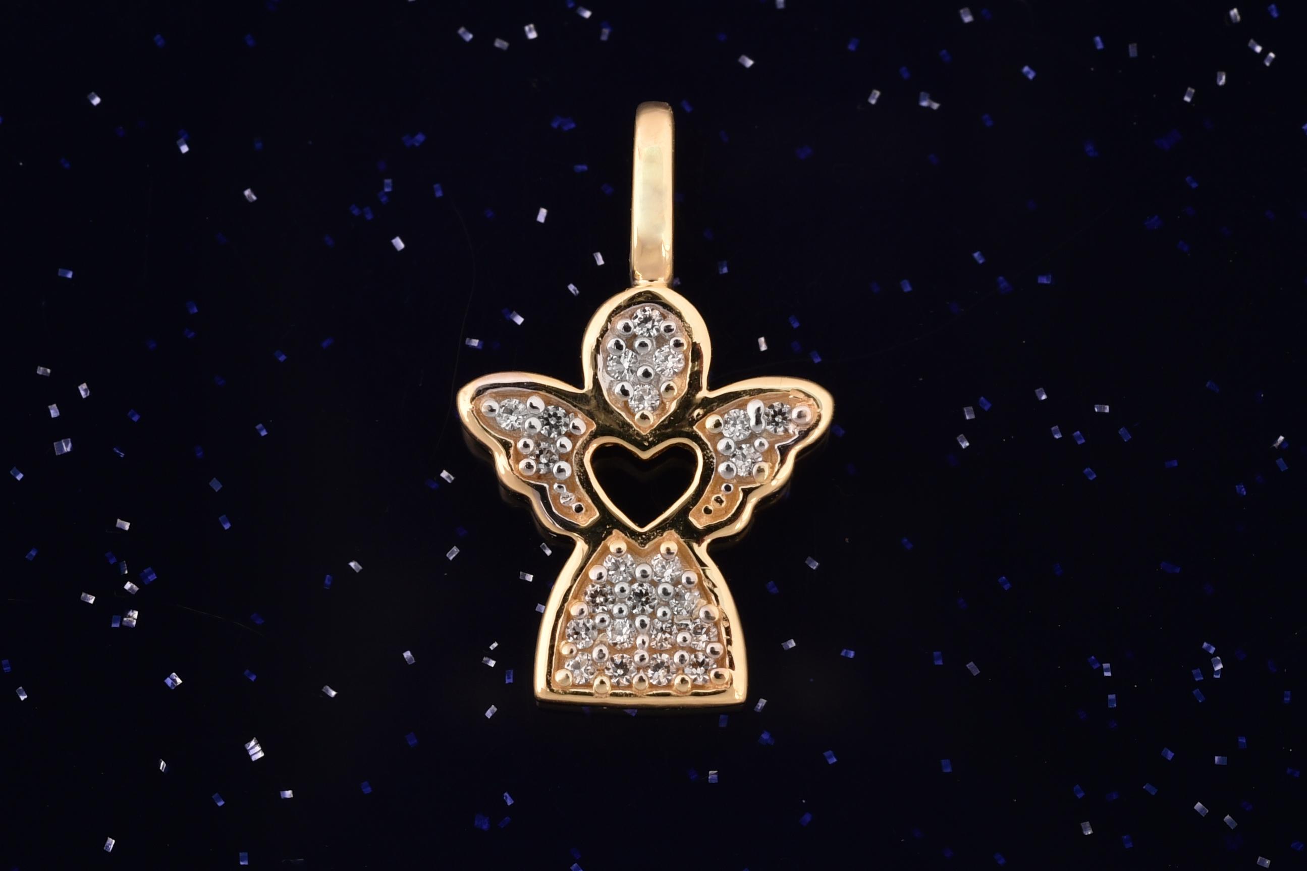 Zlatý anděl přívěsek P013 14kt,1,40g (14kt,váha 1,40g)