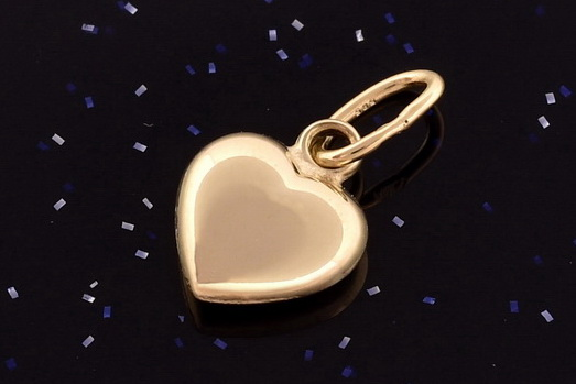 Zlatý přívěsek srdce P066 14kt,0,20g (14kt,váha 0,20g)