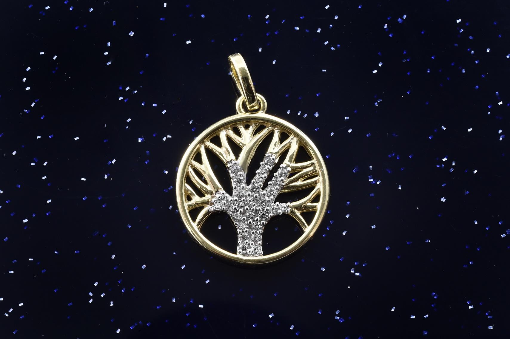 1ddaa38a250 Zlatý přívěsek Strom života P095