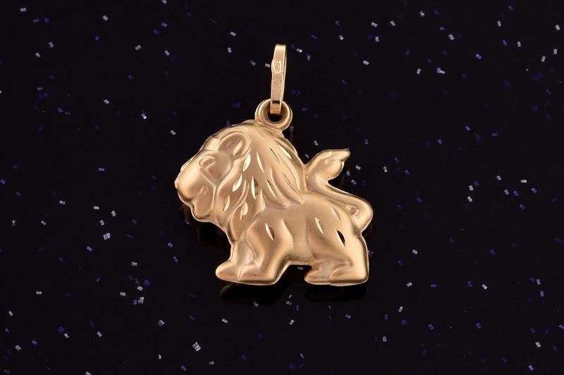 Zlatý lev-přívěsek ze zlata P018 0,75g (14kt,váha 0,75g)