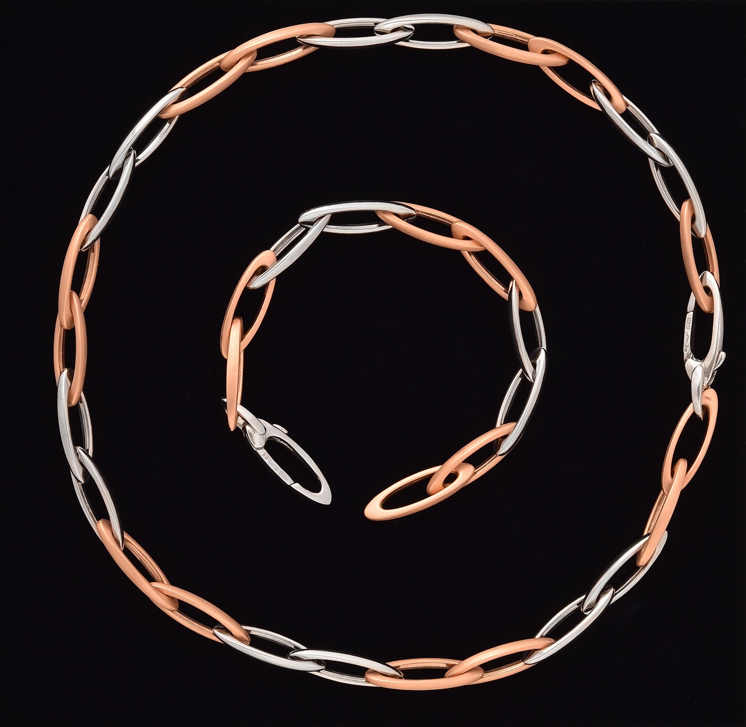 Zlatý náhrdelník Anker